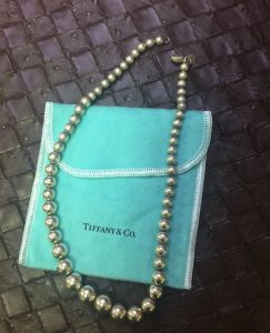 TIFFANY & CO NECKLACE Graduated Bead Ball 925 Sterling Silver